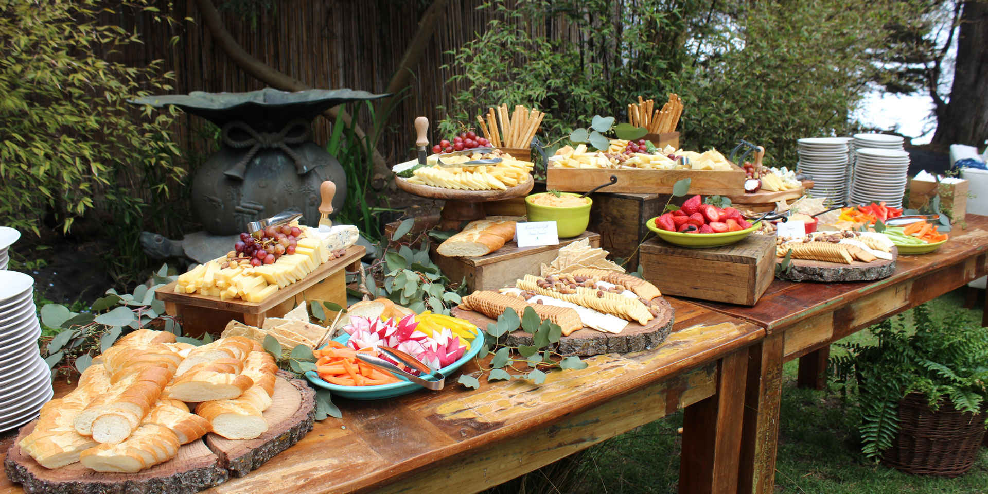 Stationary Appetizer Display from Classic Catering
